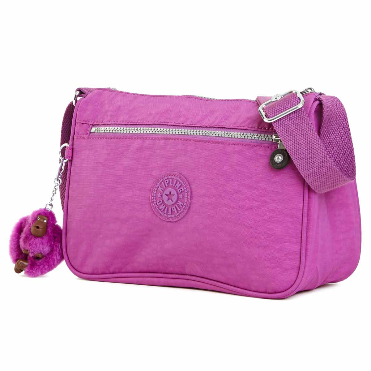 Kipling HB6490-500 Women's Callie Purple Q Nylon Crossbody Handbag