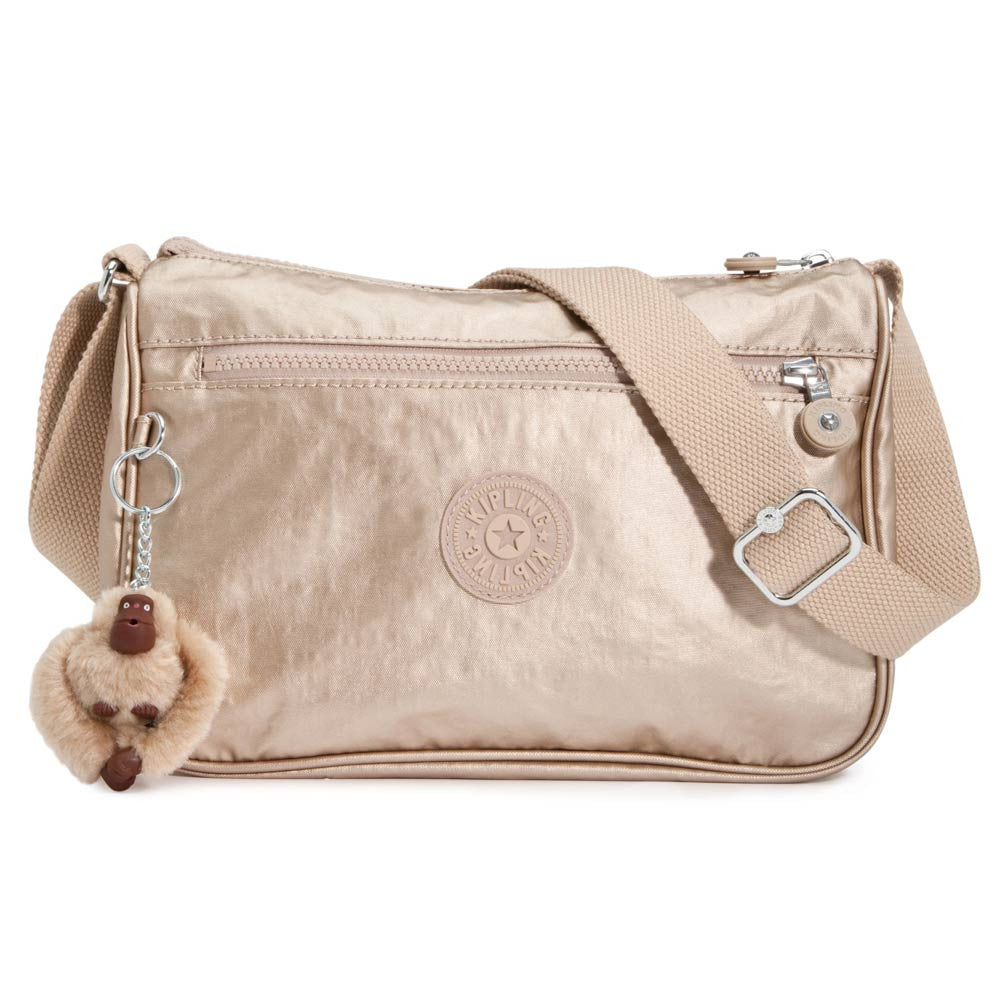 Kipling HB6494-340 Women's Callie Metallic Toasty Gold Handbag