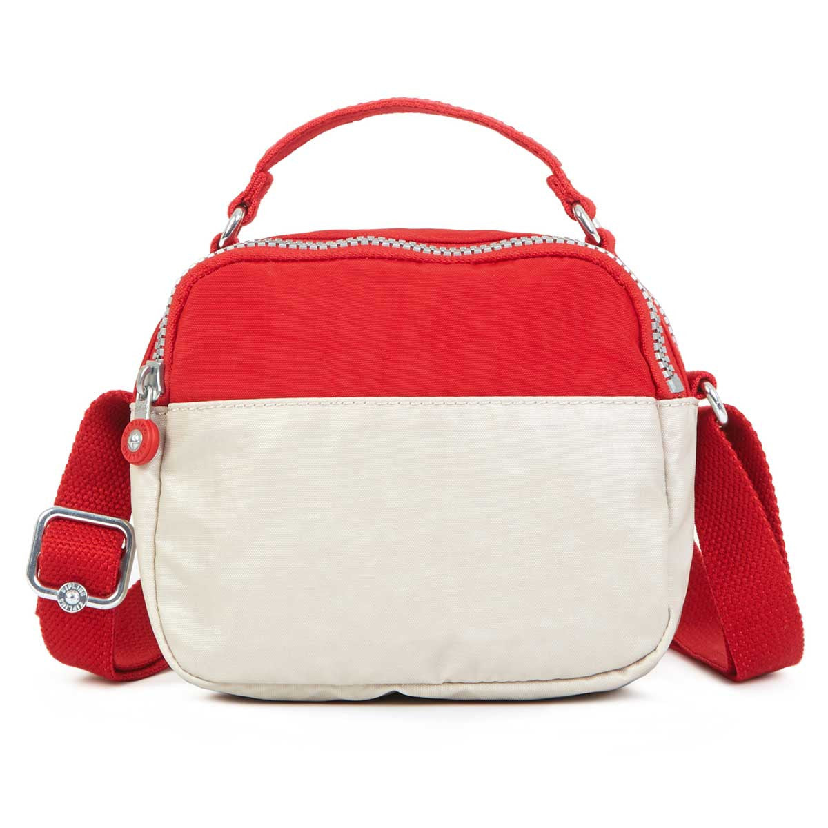 Kipling HB6814-630 Women's Artie Cherry Grey Mix Coated Crinkle Nylon Crossbody Shoulder Bag