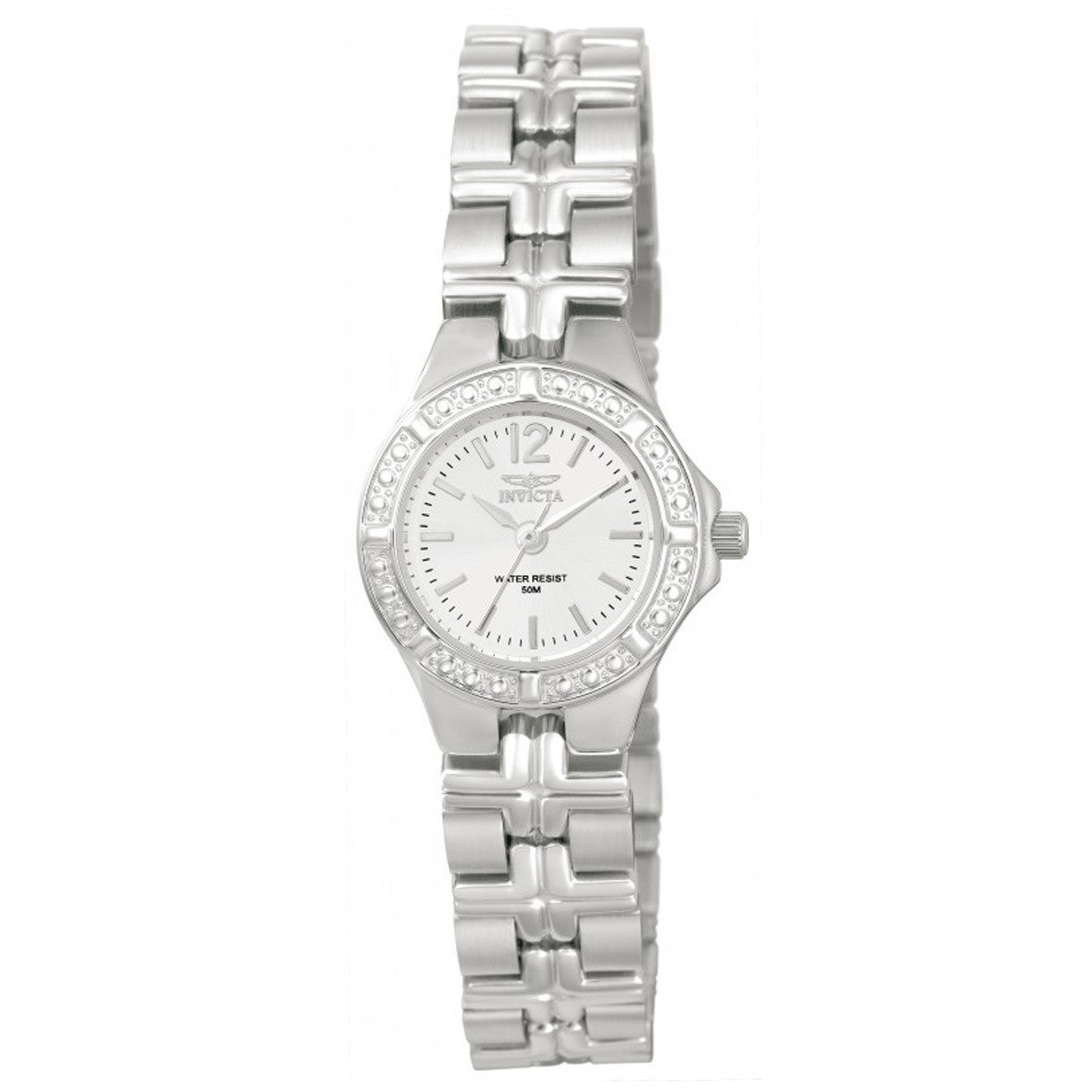 Invicta 0129 Women's Wildflower White Dial Stainless Steel Bracelet Watch