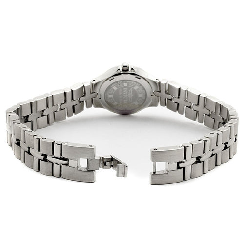 Invicta 0132 Women's Wildflower Quartz Silver Dial Crystal Accented Stainless Steel Watch
