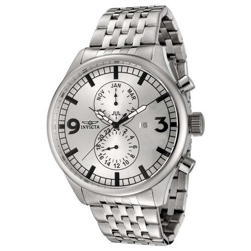 Invicta 0366 Men's II Collection Stainless Steel Silver Dial Watch