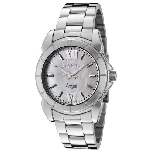 Invicta 0458 Women's Angel MOP Dial Stainless Steel Bracelet Watch