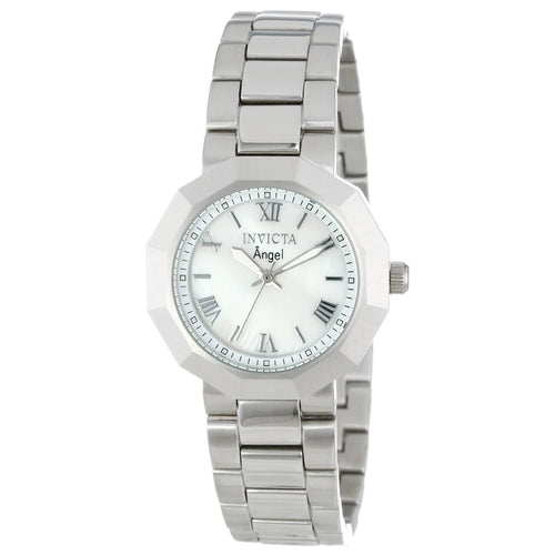 Invicta 0542 Women's Angel White MOP Dial Stainless Steel Bracelet Watch