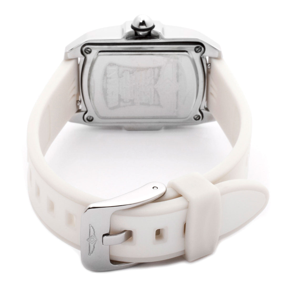 Invicta 0573 Women's Baby Lupah White MOP Dial Interchangeable White Polyurethane Strap Watch