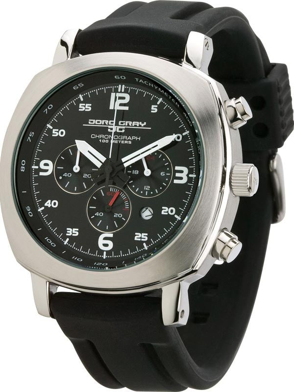 Jorg Gray JG3515 Men's Quartz Chronograph Rubber Strap Watch