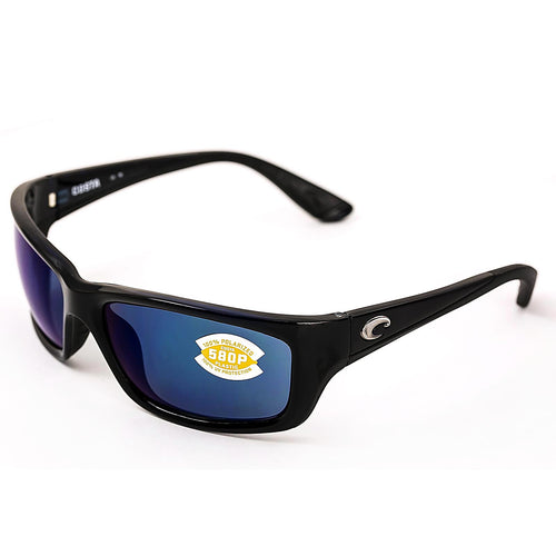 Costa Del Mar JO11OBMP Jose Blue Mirror 580P Polarized Lenses Shiny Black TR 90 Nylon Frame Sunglasses
