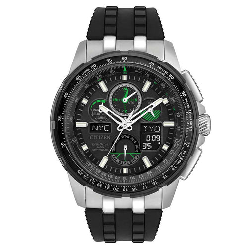 Citizen JY8051-08E Men's Skyhawk A-T Black Dial Ana-Digi Dive Eco-Drive Chronograph Watch