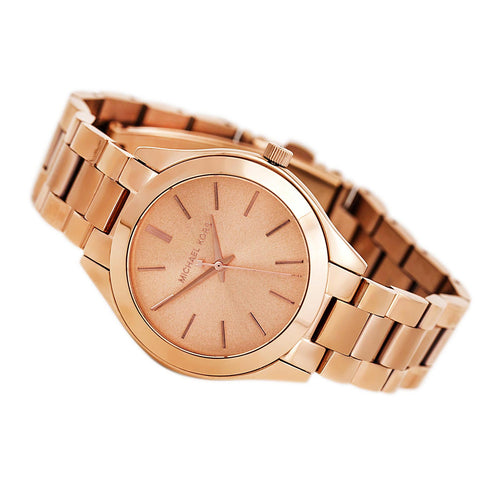 Michael Kors MK3205A Women's Runway Rose Gold Dial Rose Gold Stainless Steel Watch