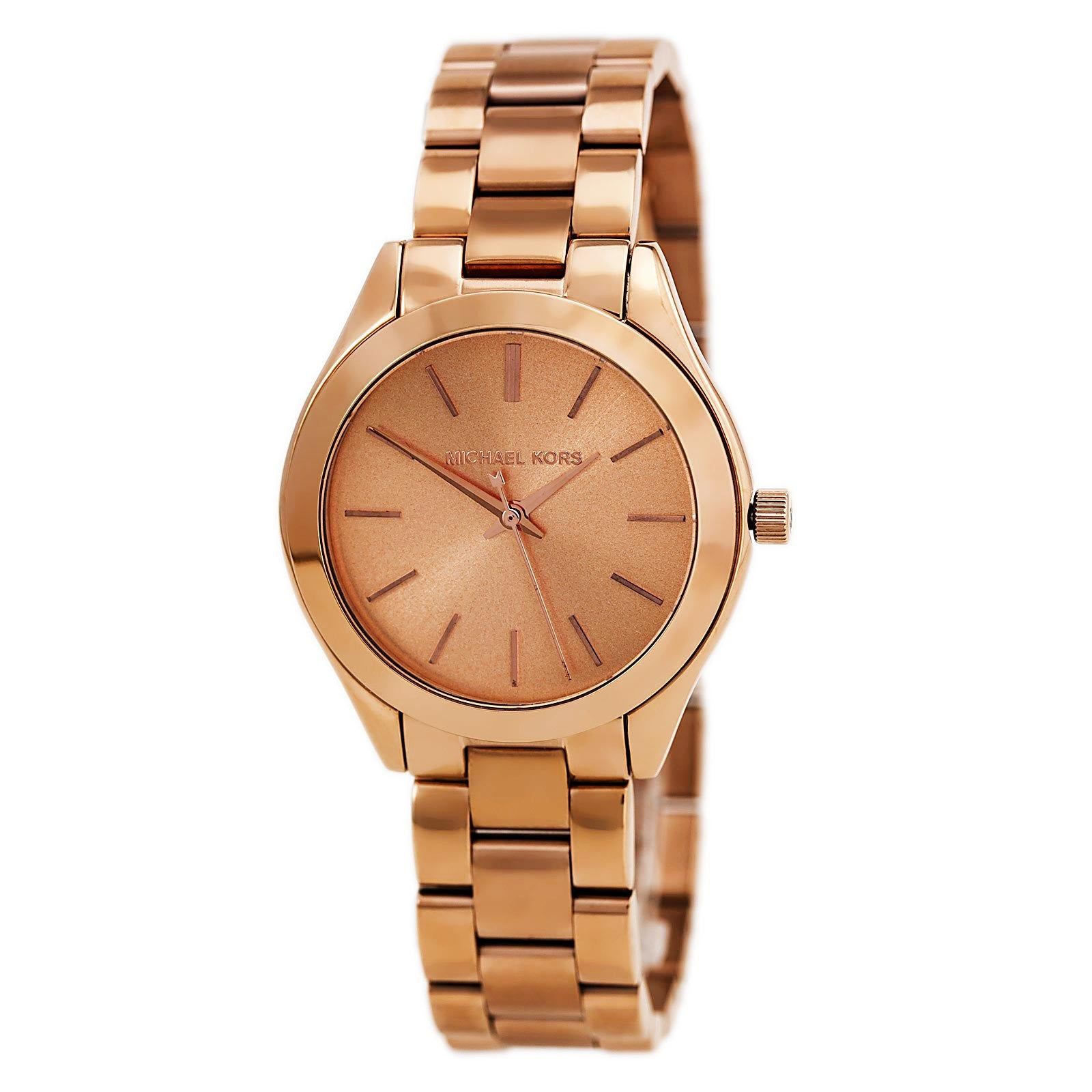 Michael Kors MK3205A Lady's Runway Rose Gold Stainless Steel Watch