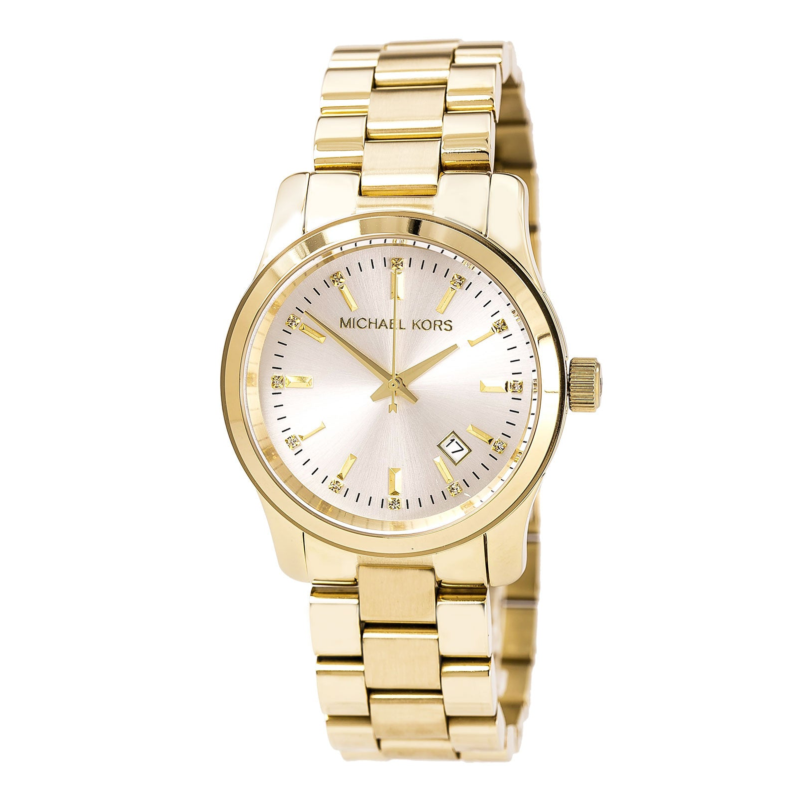 Michael Kors MK5177 Lady's Gold Dial Yellow Steel Bracelet Watch