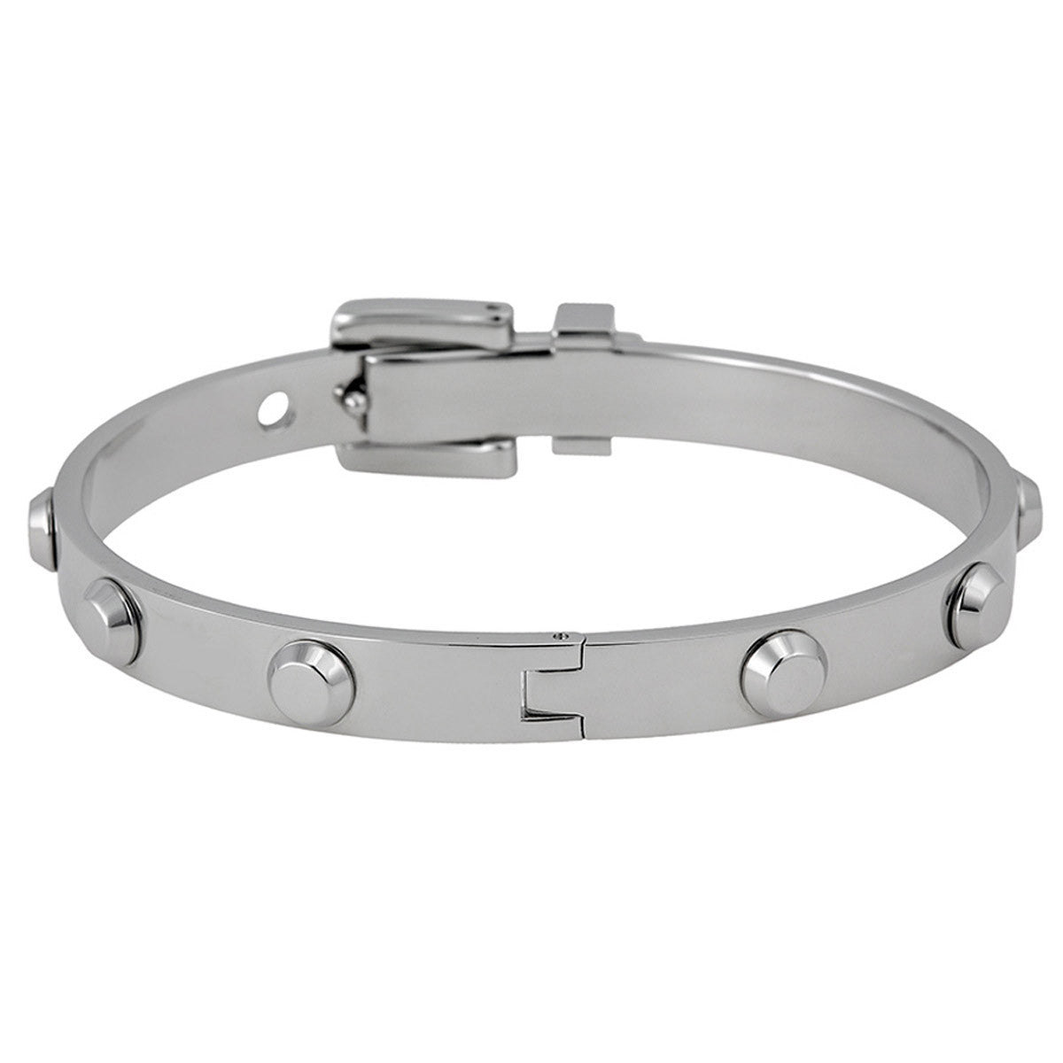 Michael Kors MKJ1820040 Women's Astor Silver Tone Steel Buckle Bangle Bracelet
