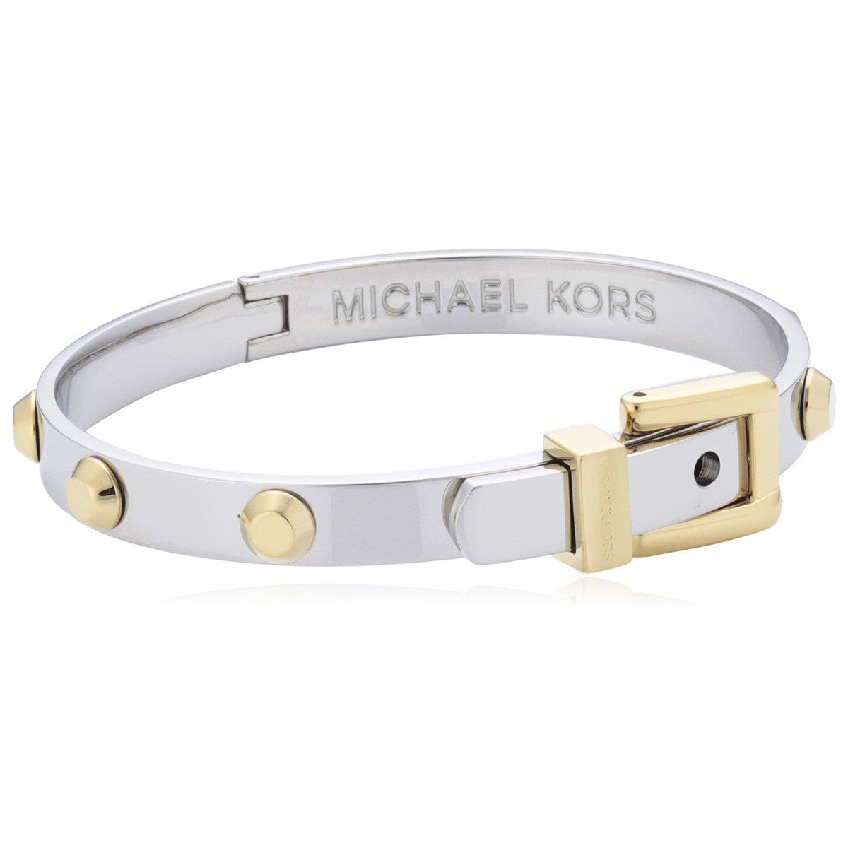 Michael Kors MKJ1892931 Women's Astor Two Tone Steel Buckle Bangle Bracelet