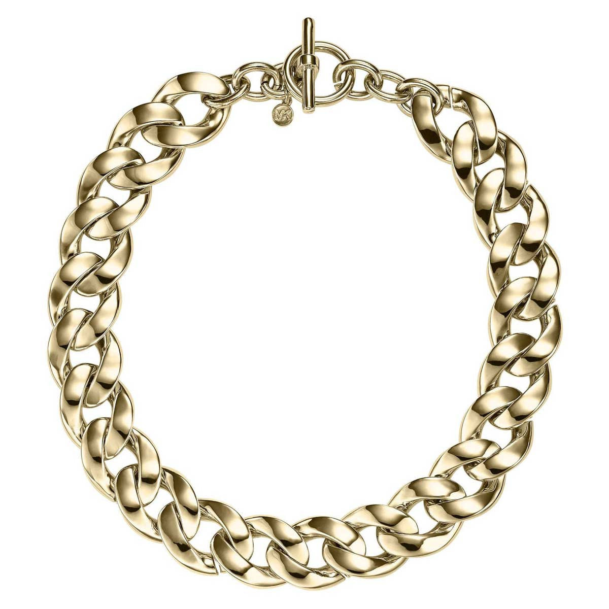 Michael Kors MKJ3815710 Women's Gold Tone Steel Curb Chain-Link Necklace