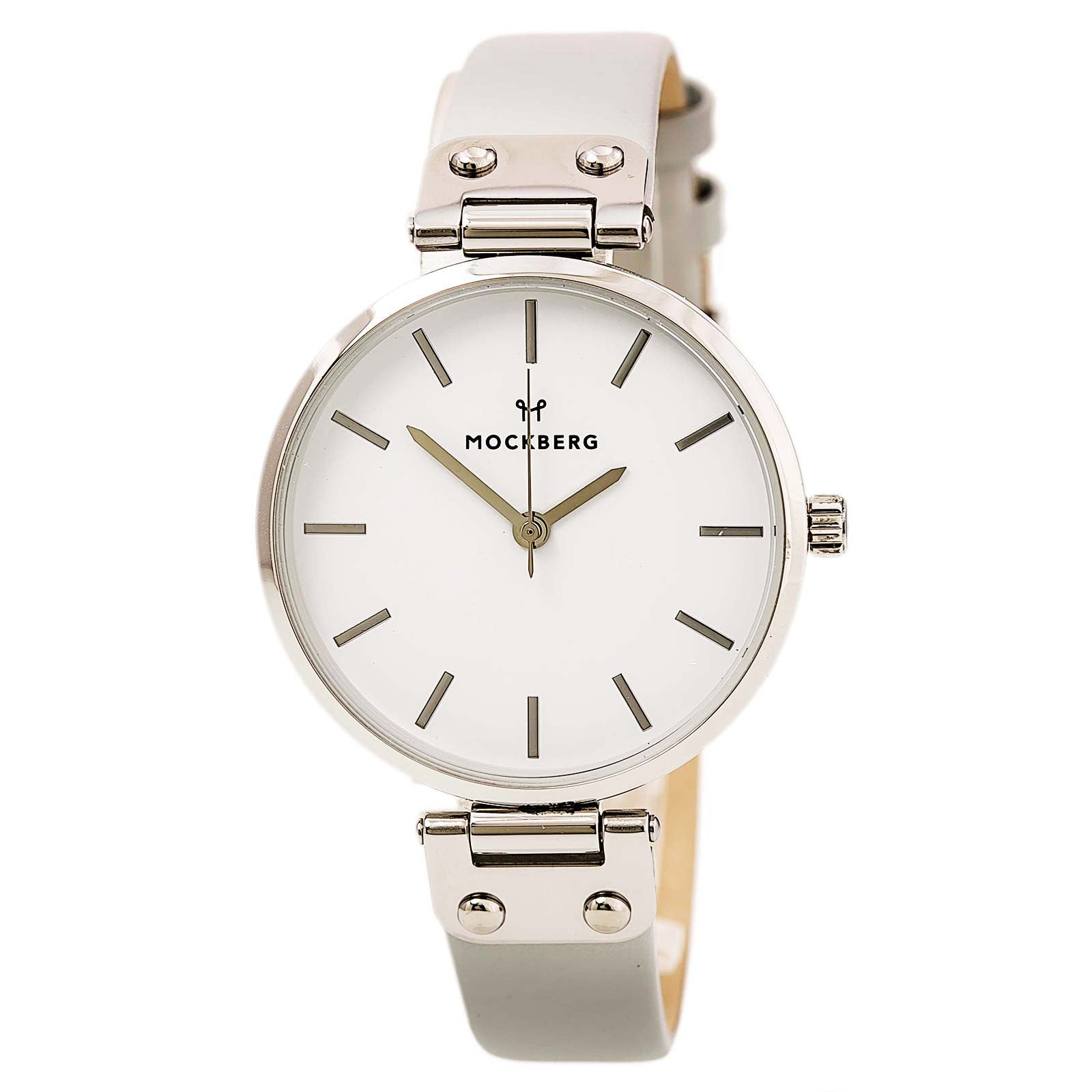Mockberg MO1005 Women's Elsa Grey Leather Strap White Dial Watch