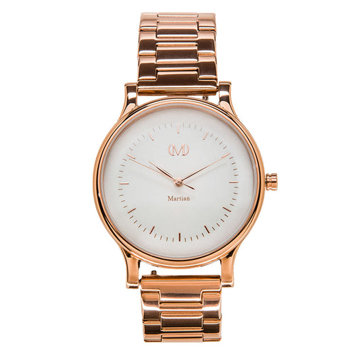 Martian MPS01CL025 Woman's CL02 mVip Cream Dial Rose Gold IP Steel Smartwatch