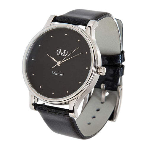 Martian MPS01CL072 Woman's CL07 mVip Black Dial Charcoal Patent Leather Strap Smartwatch