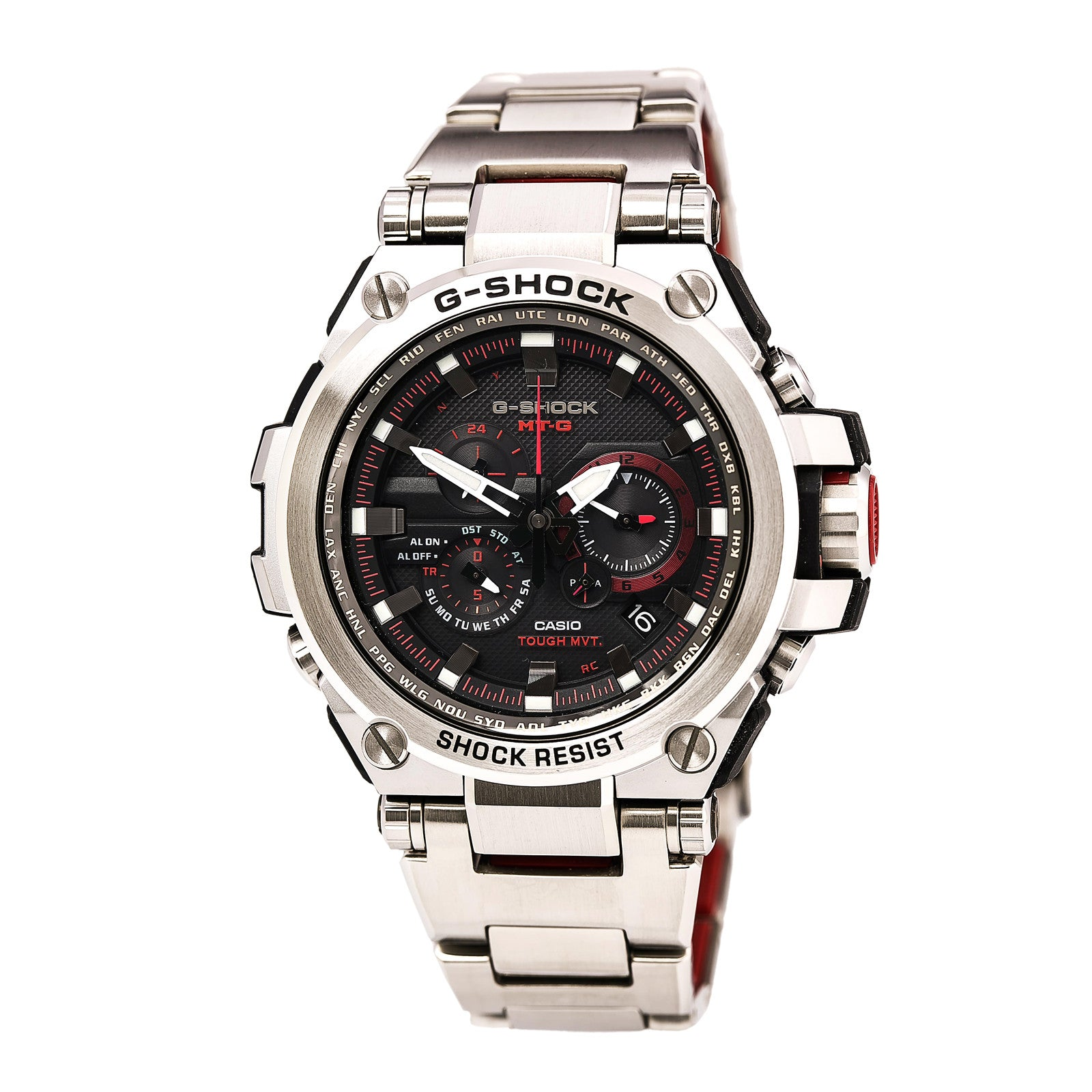 Casio MTGS1000D-1A4 Gents MT-G Chrono Resin & Steel Bracelet Watch MTGS1000D-1A4