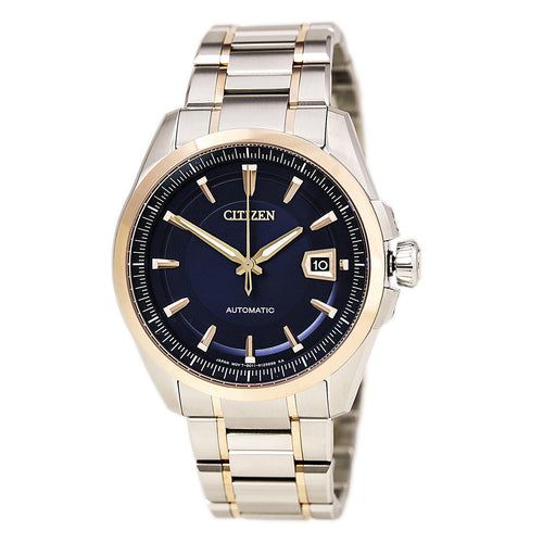Citizen NB0046-51L Men's The Signature Grand Classic Blue Dial Two Tone Steel Automatic Watch