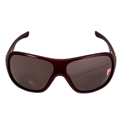 Oakley OO9166-03 Women's Underspin Goupie Gray Polarized Lens Red Plastic Frame Sunglasses