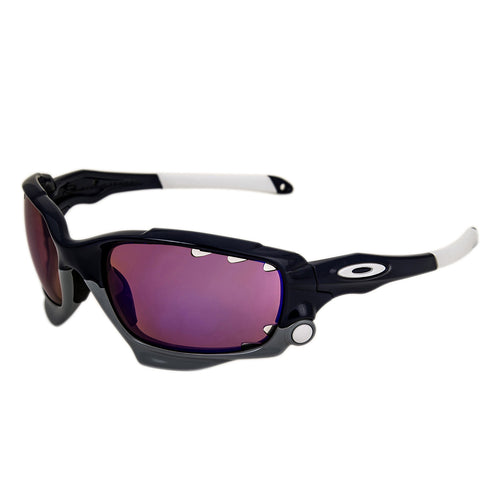 Oakley OO9171-17 Men's Racing Jacket Polished Navy Plastic Frame VR28 Blue Iridium Lenses Sunglass