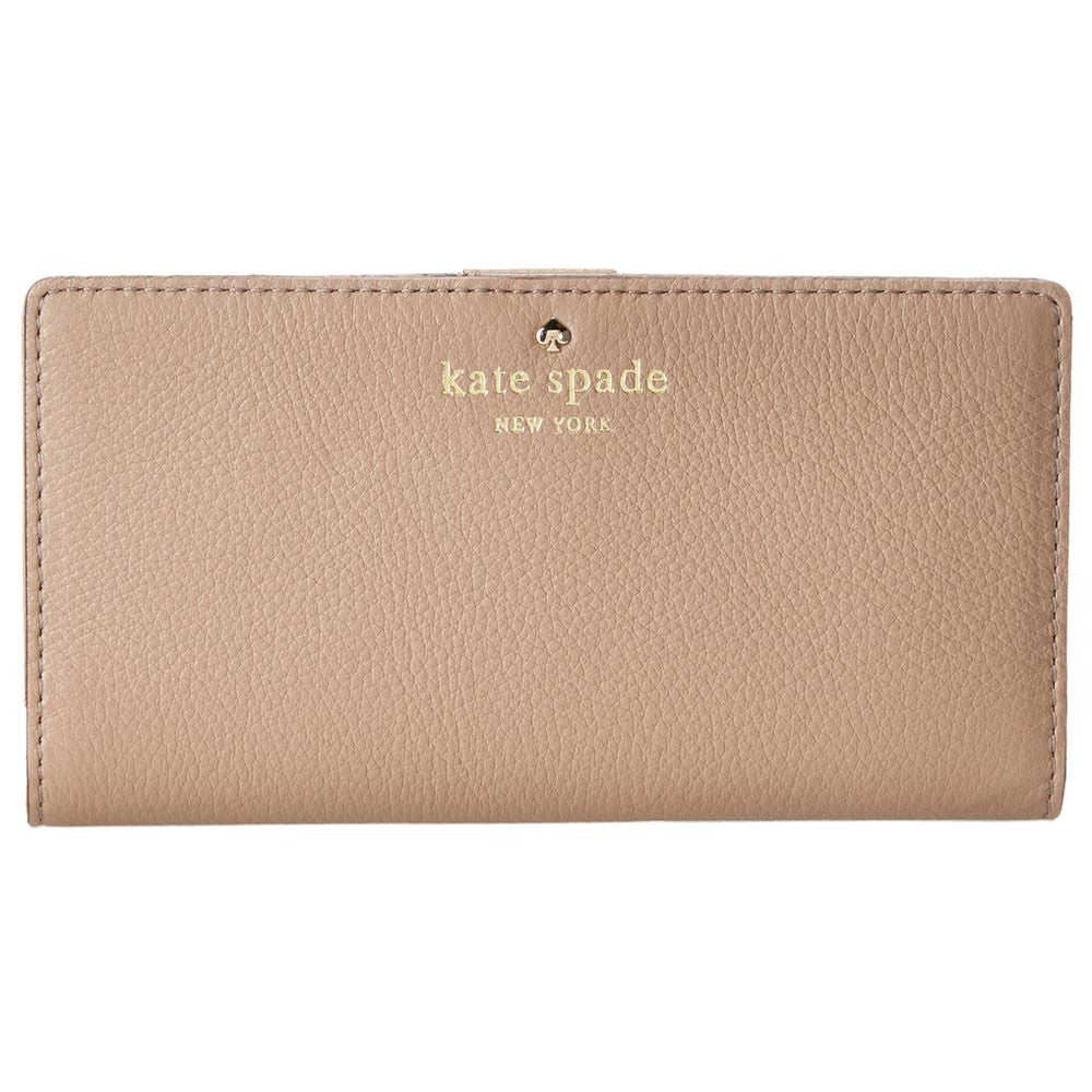 Kate Spade PWRU2182-178 Women's Cobble Hill Stacy Warm Putty Pebbled Leather Wallet