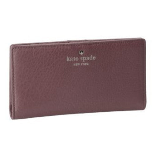 Kate Spade PWRU2182-224 Women's Cobble Hill Stacy Dark Stormy Pebbled Leather Wallet