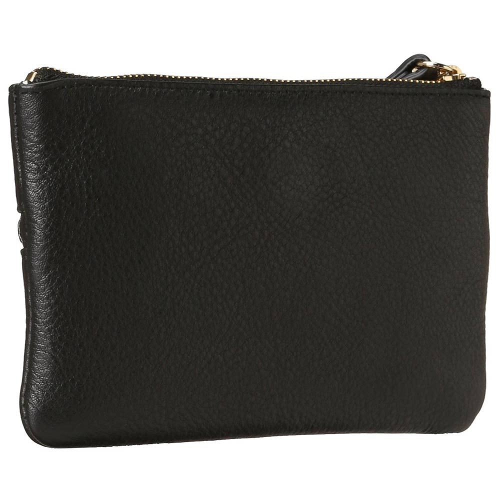 Kate Spade PWRU2938-001 Women's Cobble Hill Bee Black Pebbled Leather Wristlet Wallet