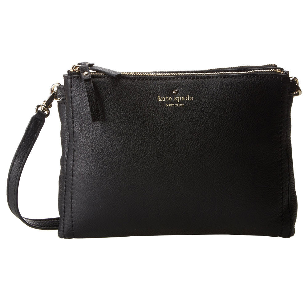 Kate Spade PWRU3380-001 Women's Cobble Hill Lillbeth Black Leather Crossbody Bag