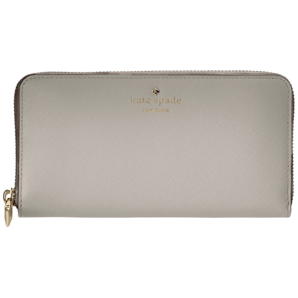 Kate Spade PWRU3438-058 Women's Cherry Lane Lacey Big Smoke Leather Wallet