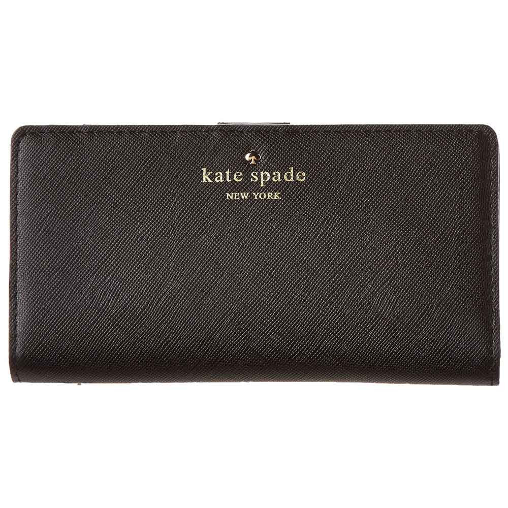 Kate Spade PWRU3443-001 Women's Cherry Lane Stacy Black Leather Wallet