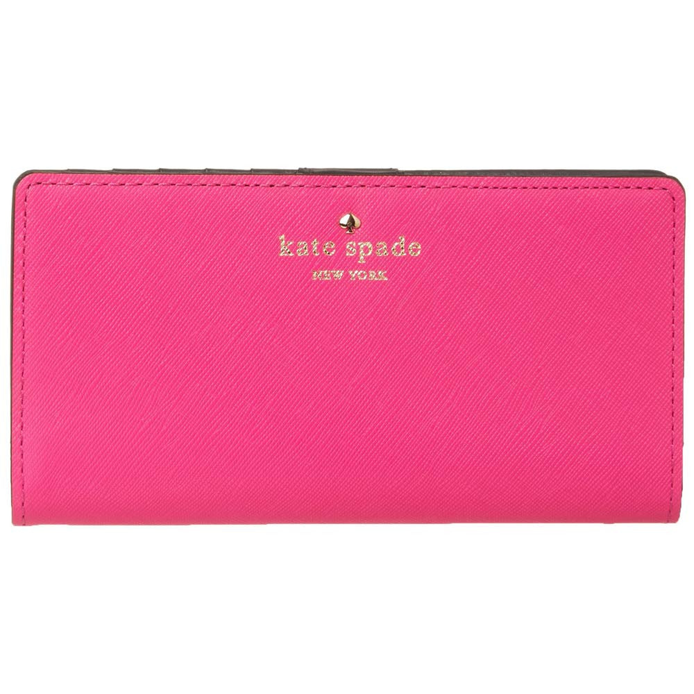 Kate Spade PWRU3443-670 Women's Cherry Lane Stacy Vivid Snapdragon Leather Wallet