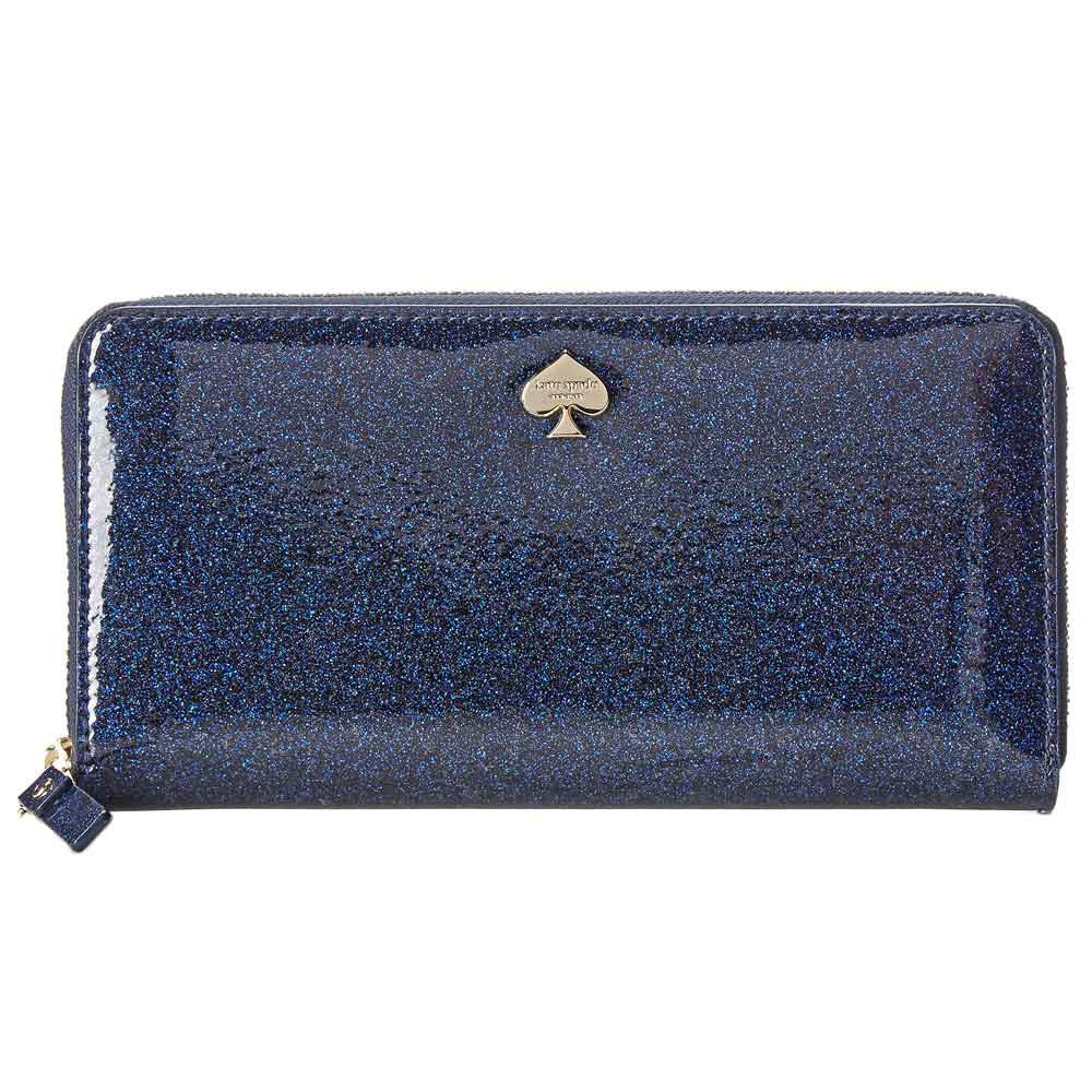 Kate Spade PWRU3470-401 Women's Glitter Bug Lacey Zip-Around Night Sky Faux Leather Wallet