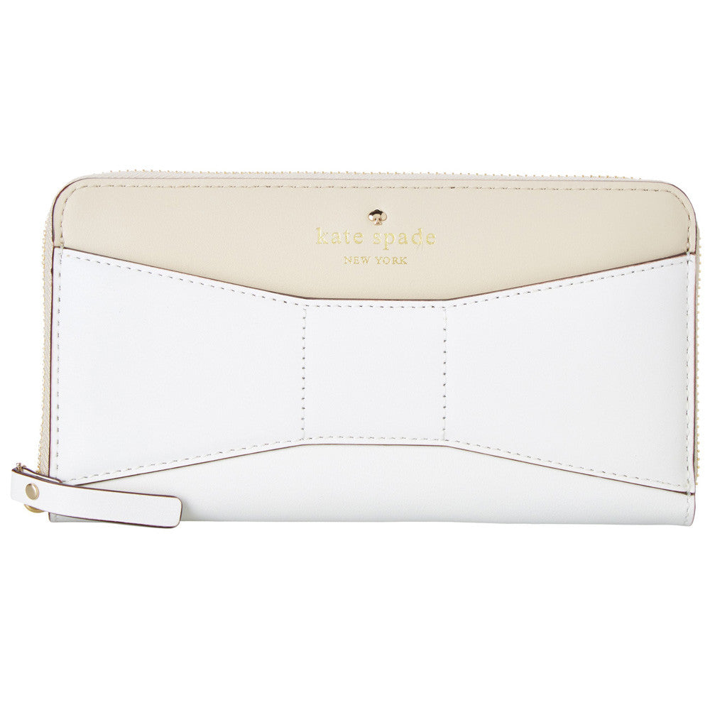 Kate Spade PWRU3530-168 Women's 2 Park Avenue Lacey Ostrich Egg/Cream Leather Wallet