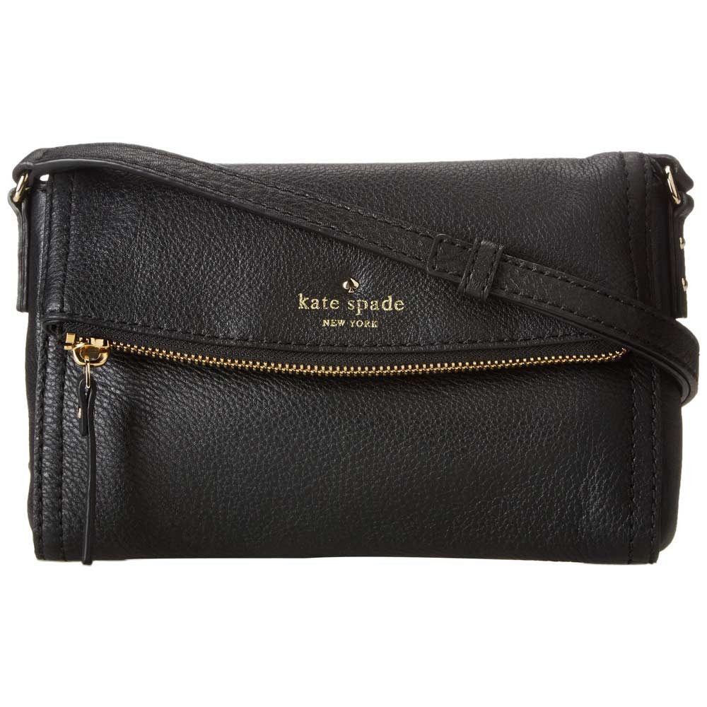 Kate Spade PWRU3681-001 Women's Cobble Hill Mini Carson Black Crossbody Pebbled Leather Shoulder Bag