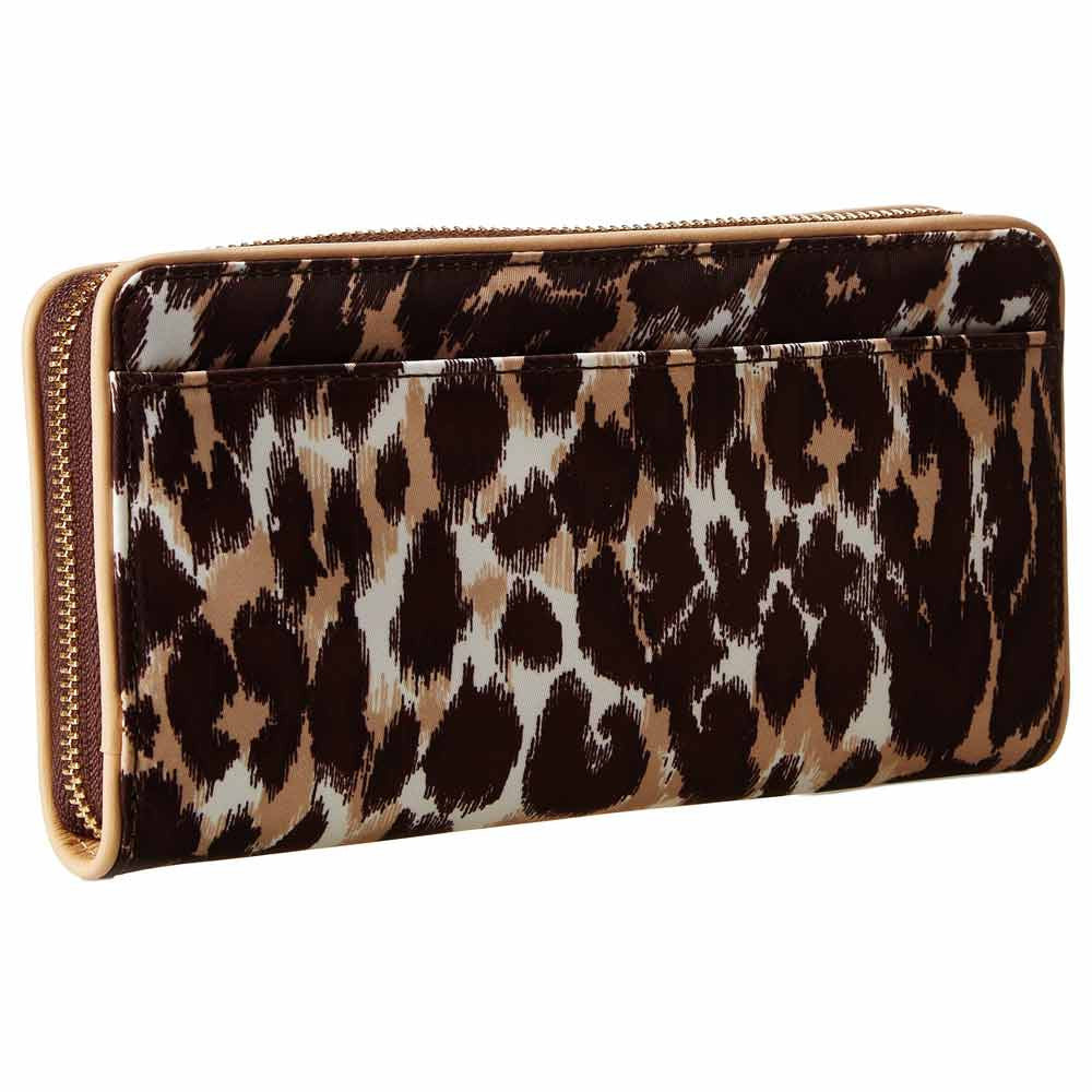 Kate Spade PWRU3793-983 Women's Veranda Place Nylon Lacey Zip-Around Leopard Wallet