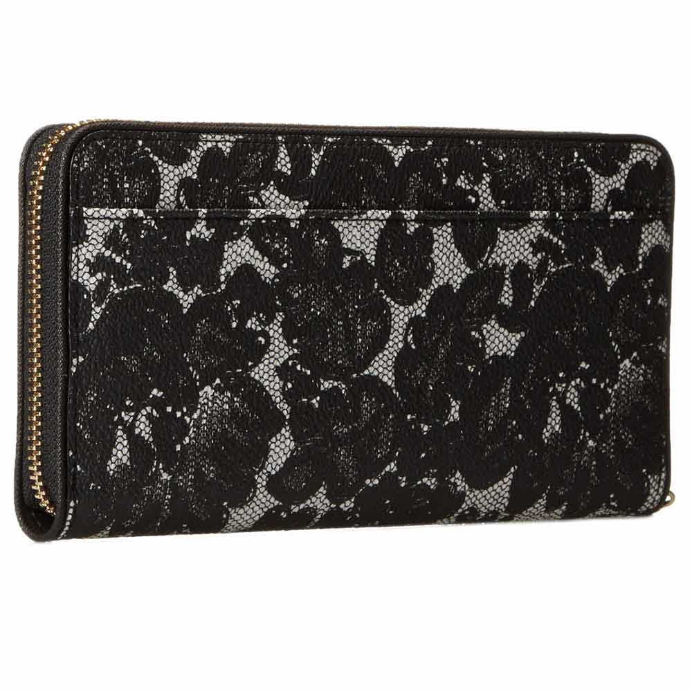 Kate Spade PWRU3801-098 Women's Cedar Street Lace Lacey Zip Around Black Multi Leather Wallet