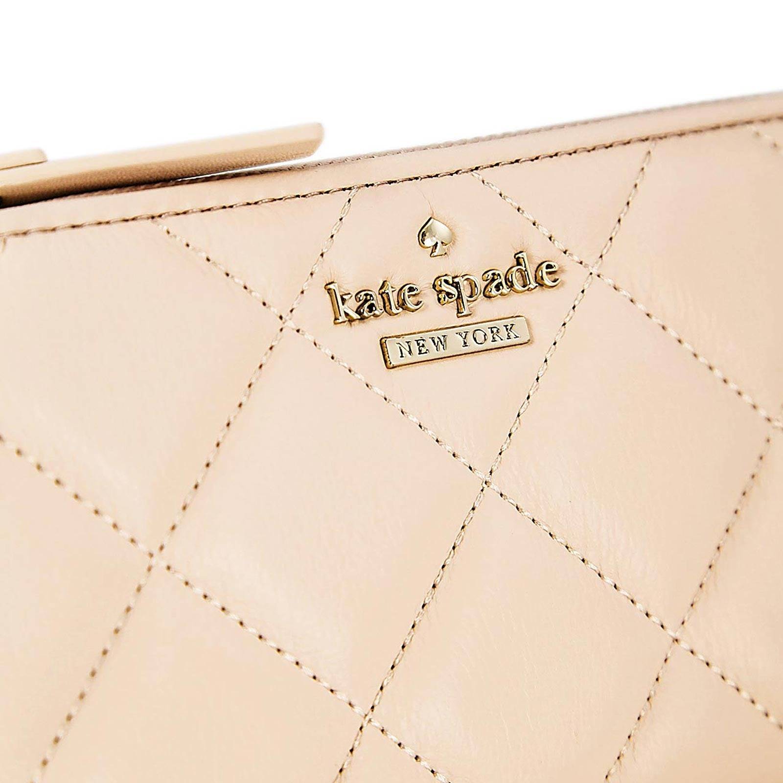 Kate Spade PWRU4230-689 Women's Emerson Place Nisha Zip Around Soft Rosette Leather Wallet