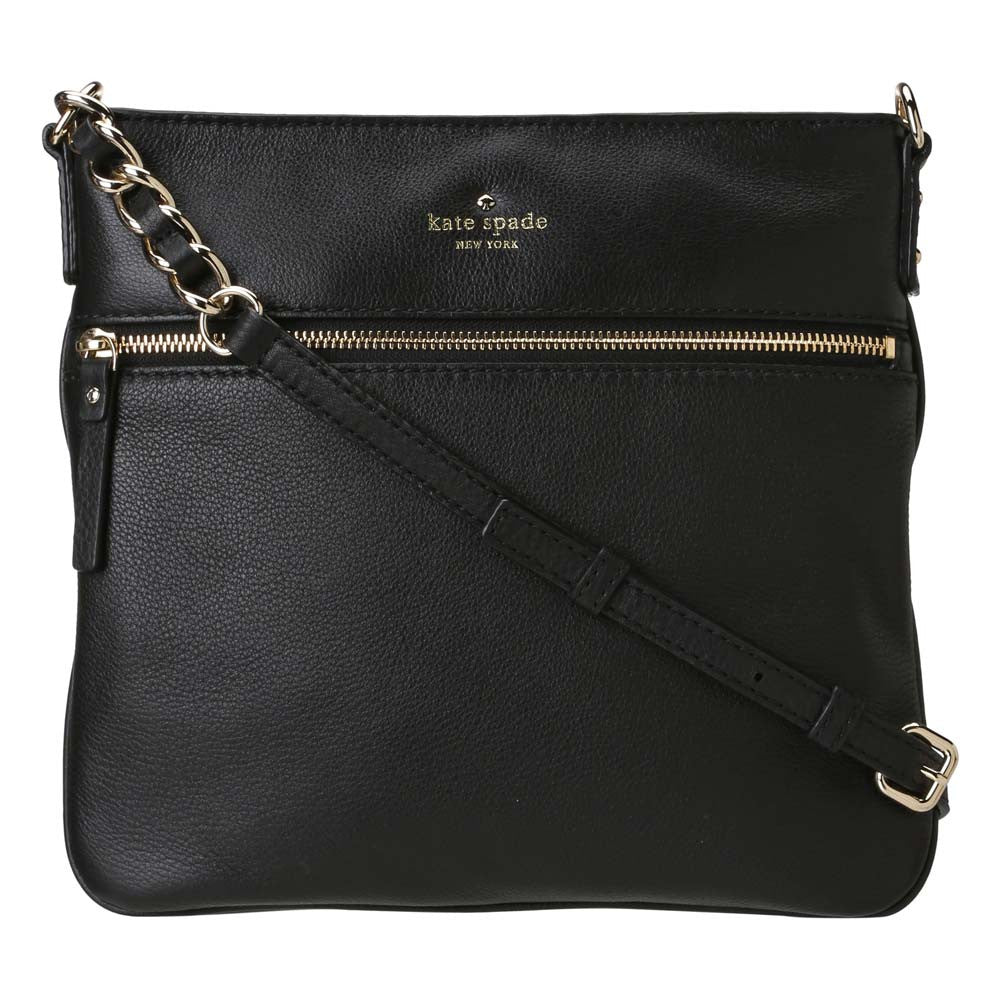 Kate Spade PXRU2233-001 Women's Cobble Hill Ellen Black Leather Crossbody Bag