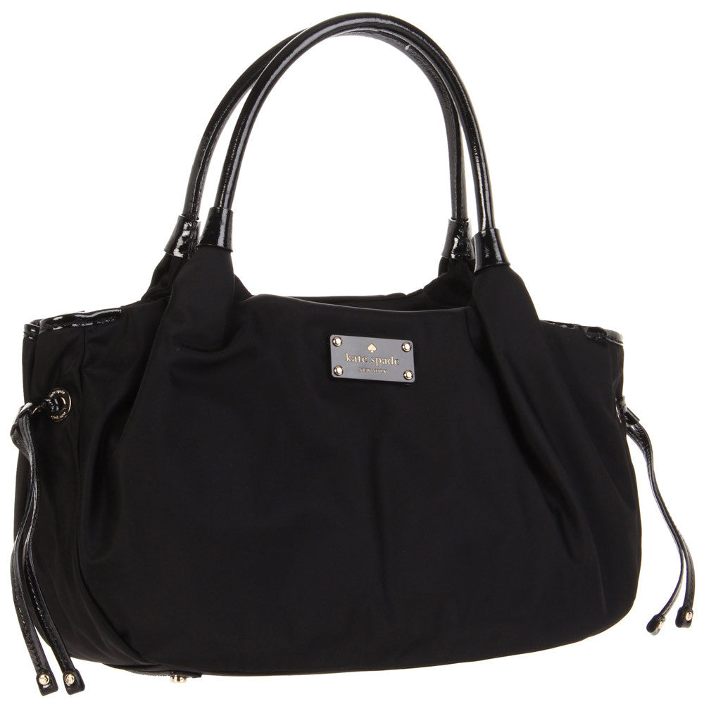 Kate Spade PXRU2273-001 Women's Black Nylon Stevie Shoulder Bag