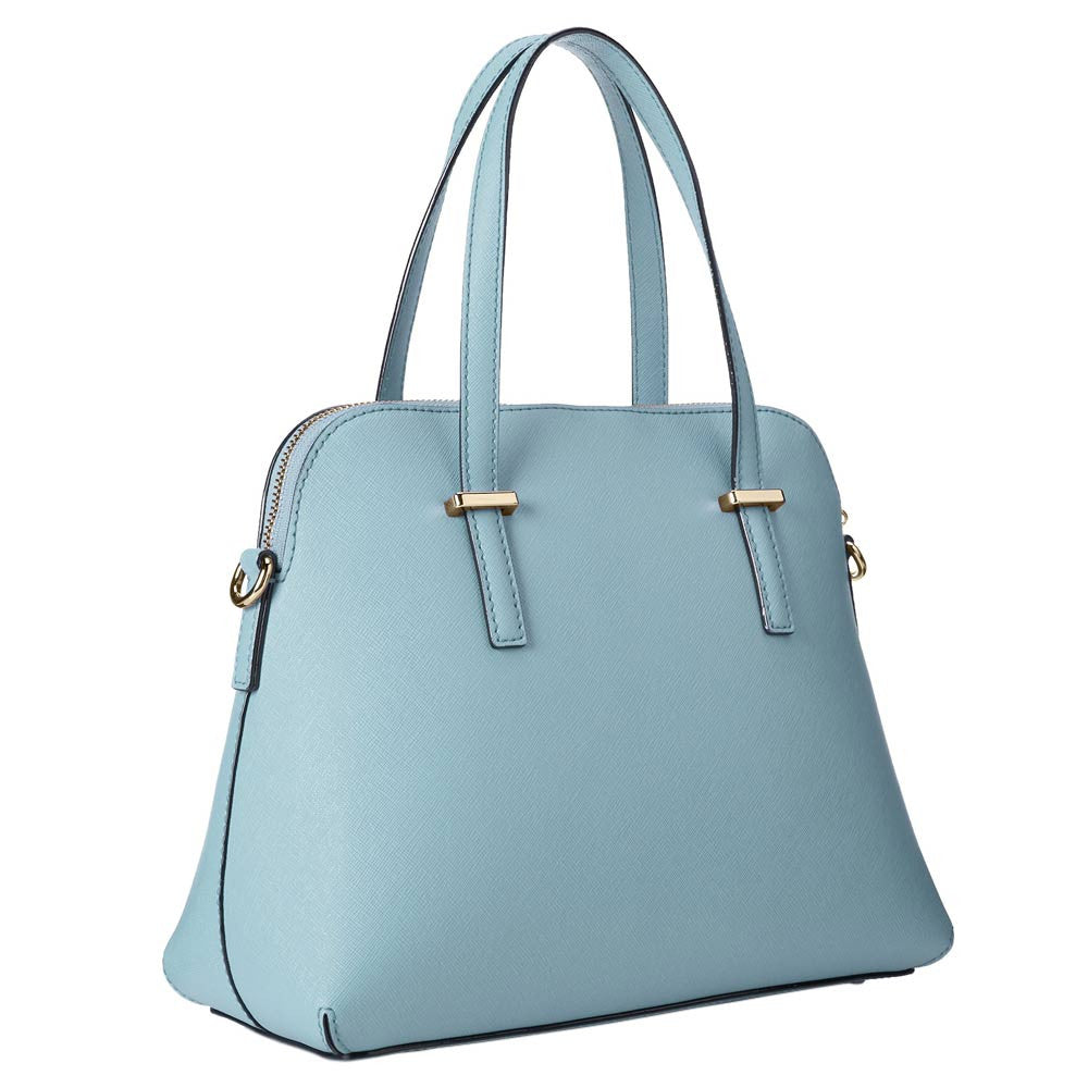 Kate Spade PXRU4471-448 Women's Cedar Street Maise Celeste Blue Crosshatched Leather Shoulder Bag