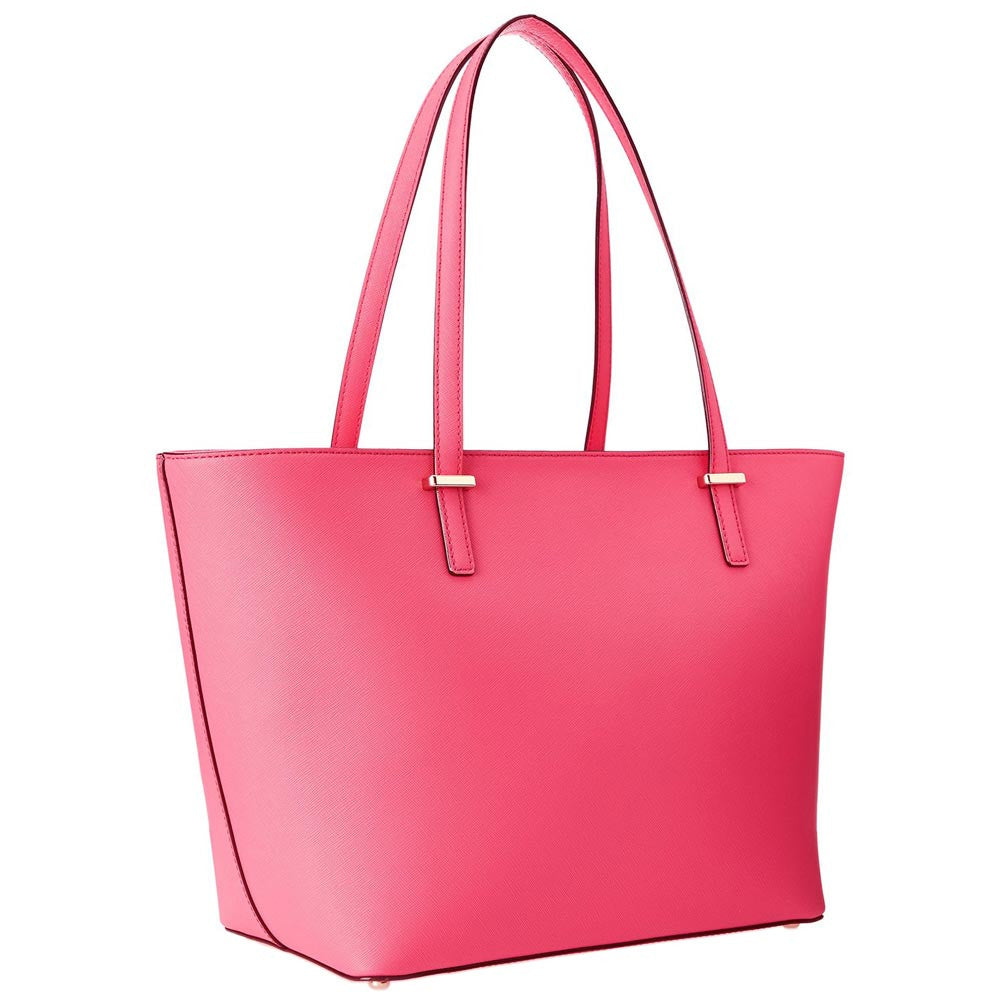 Kate Spade PXRU4545-993 Women's Cedar Street Small Harmony Cabaret Pink Crosshatched Leather Tote