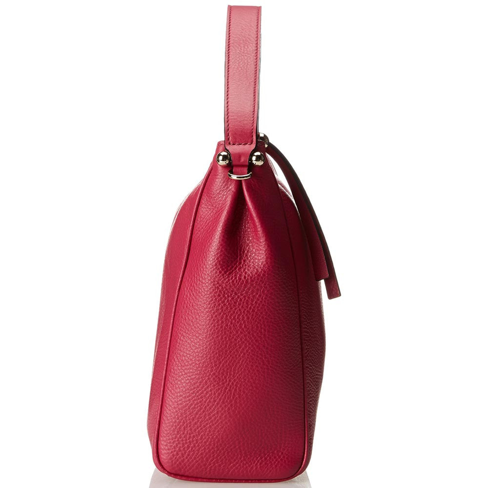 Kate Spade PXRU4911-583 Women's Charles Street Small Haven Dark Cildro Pink Pebbled Leather Tote