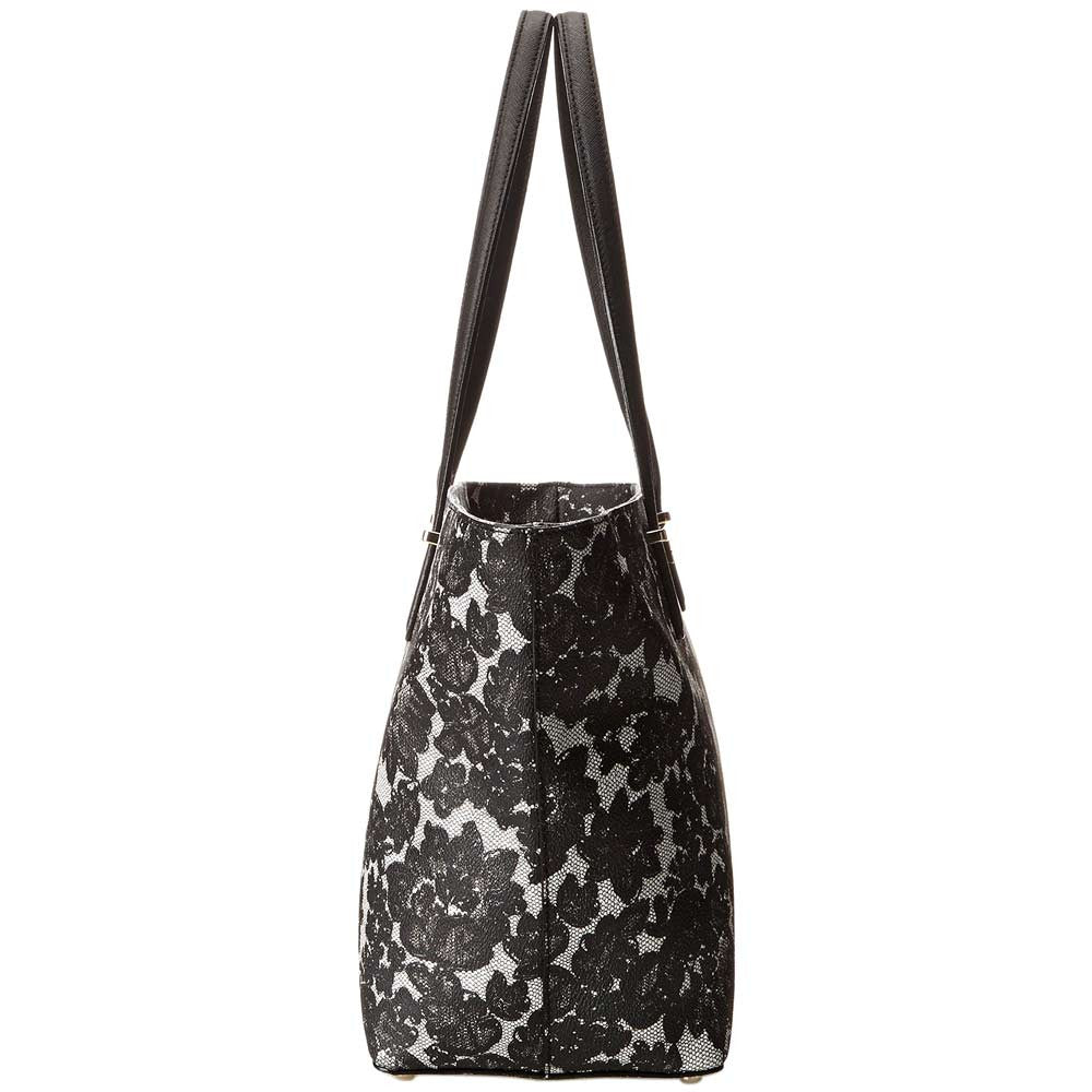 Kate Spade PXRU4938-098 Women's Cedar Street Lace Small Harmony Black Leather Tote
