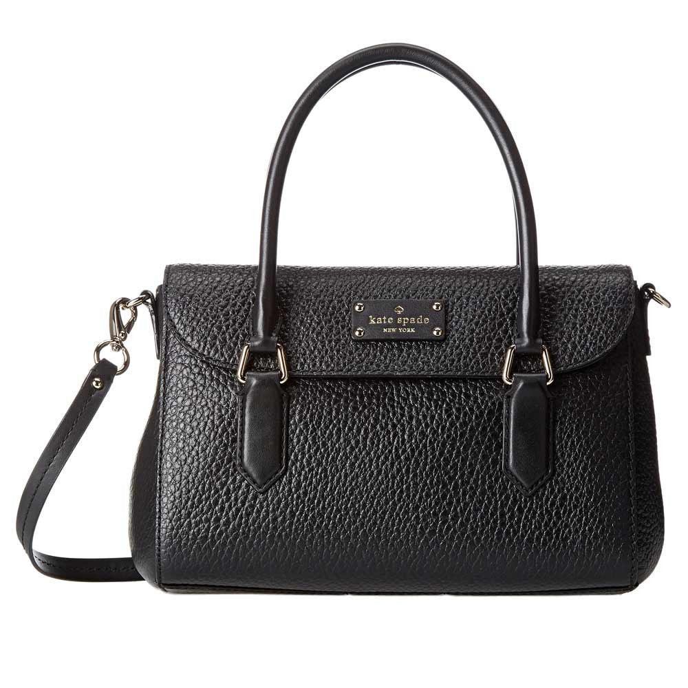 Kate Spade PXRU5183-001 Women's Grove Court Small Leslie Black Pebbled Leather Shoulder Bag