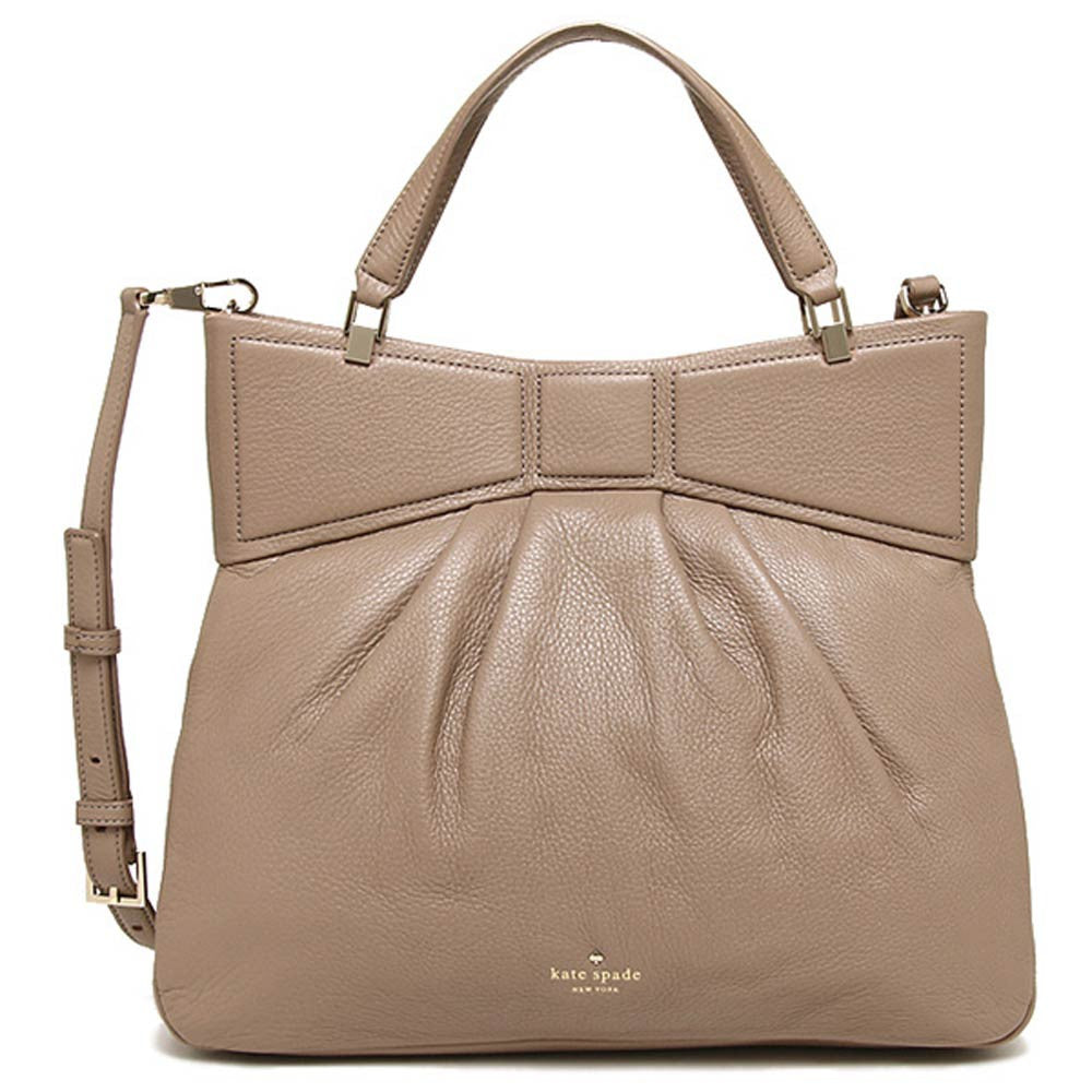 Kate Spade PXRU5248-178 Women's Mattie Street Amelie Warm Putty Pebbled Leather Should Bag