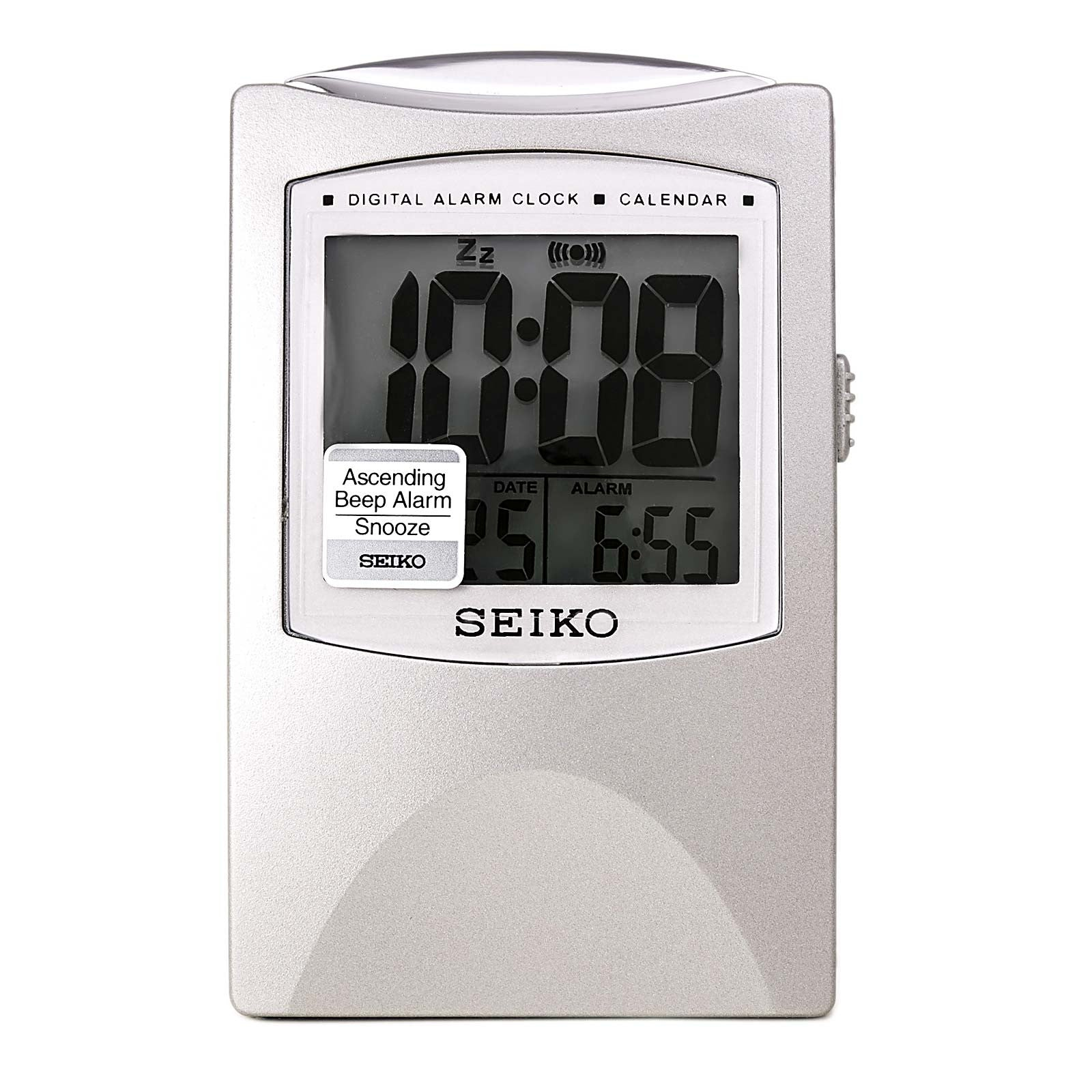 Seiko QHL005SLH Get Up And Glow Travel Alarm Clock