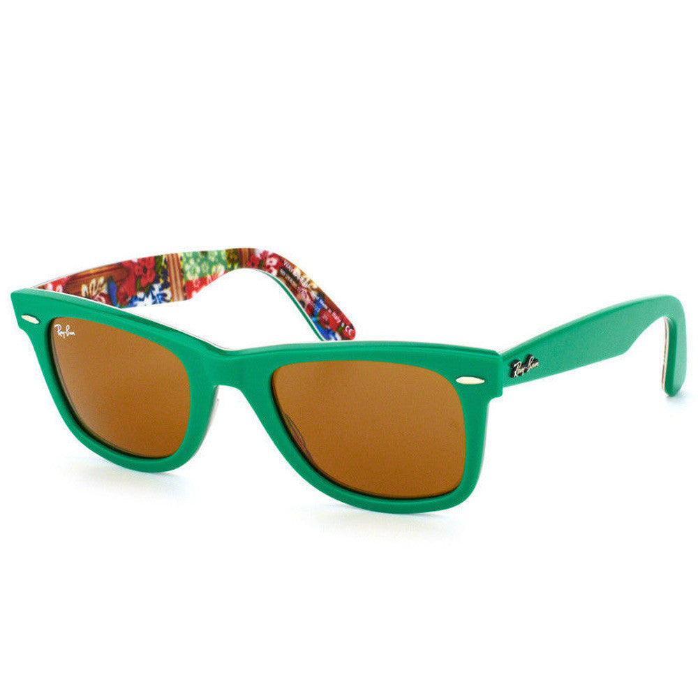 b 15 xlt lenses ray ban sunglasses  ray ban rb 2140 1140 50 b 15 xlt brown lens top green on texture surf sunglass
