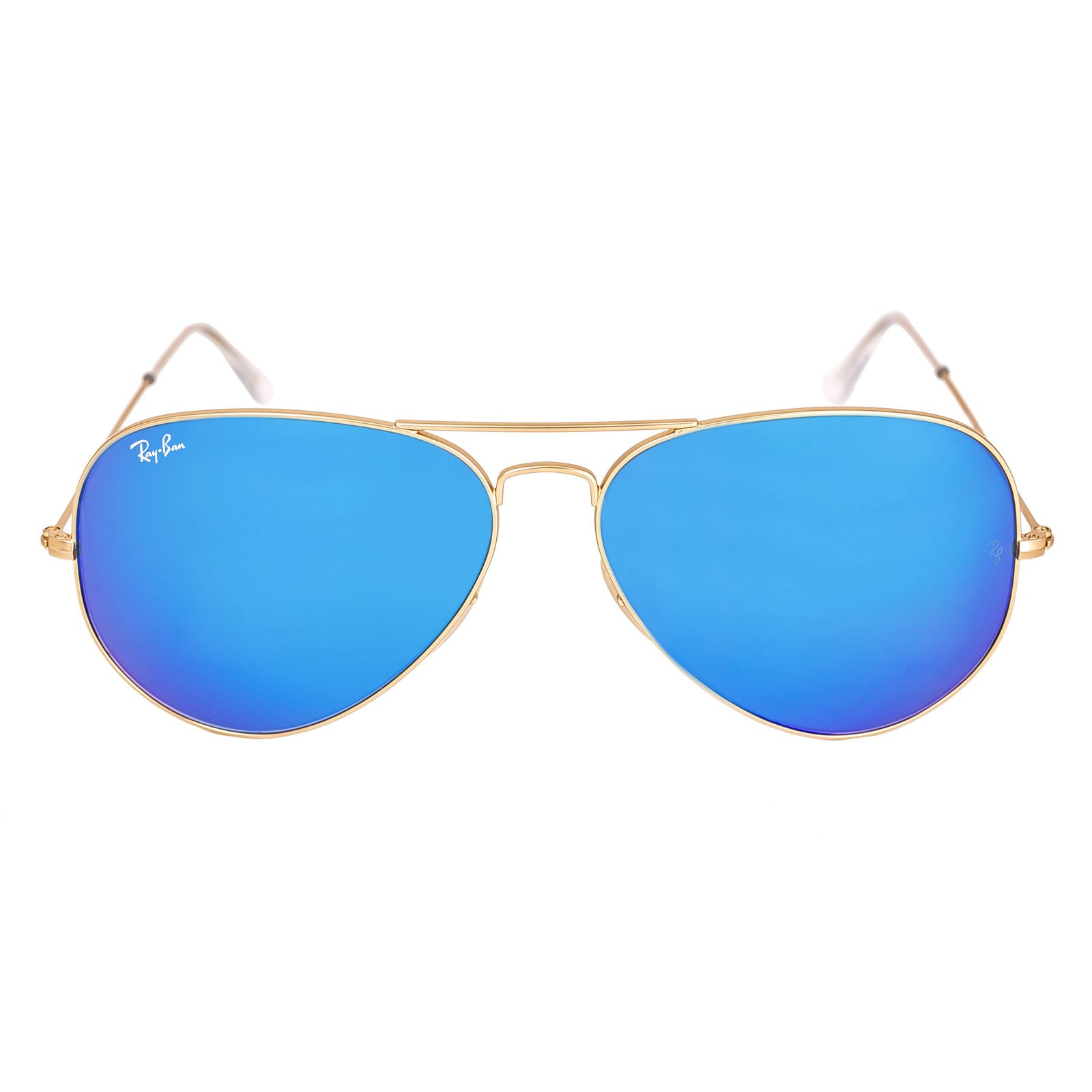 ray ban flash lenses  Ray-Ban RB 3025 112-17 62 Unisex Aviator Blue Flash Lenses Gold ...