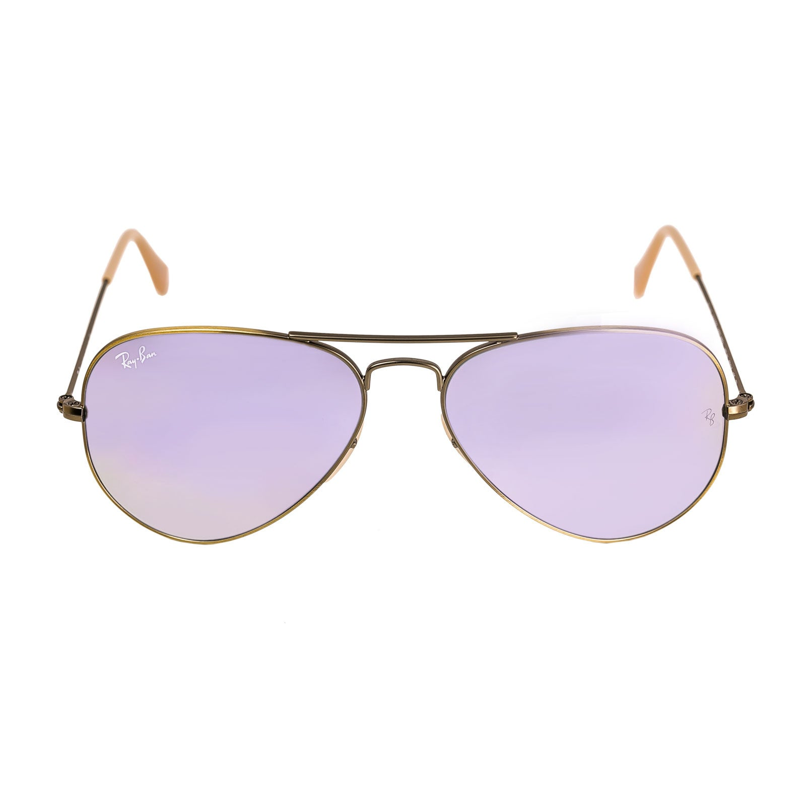 Ray-Ban RB 3025 167-4K 55 Unisex Aviator Lilac Mirror Flash Lenses Bronze-Copper Metal Frame Sunglasses